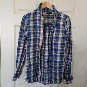 Madewell Women's Long Sleeve Flannel Shirt Size S